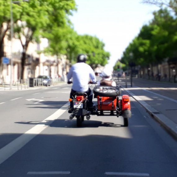 Visite de Bordeaux en side-car